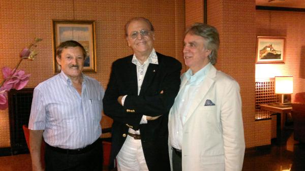 Renzo Arbore con M.Corcio e V.Pacillo